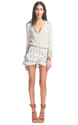 Isabel Marant Alicia Lace Up Front Blouse 25