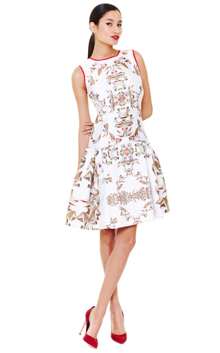 Printed Drop Waist Cocktail Dress by Prabal Gurung Now Available on Moda Operandi