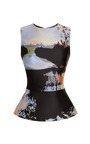 Woodstock Sleeveless Top by Mary Katrantzou Now Available on Moda Operandi
