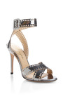 Take 110 Metallic-Leather Sandals by Charlotte Olympia Now Available on Moda Operandi