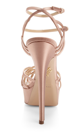 Ursula Satin Strappy Platform Sandals by Charlotte Olympia Now Available on Moda Operandi