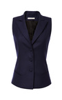 Wool-Gabardine Suiting Vest by Bouchra Jarrar Now Available on Moda Operandi