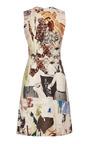Carven - Sleeveless Printed Wool Canvas Dress