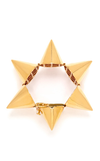 Extra Large Gold-Plated Cone Bracelet by Eddie Borgo Now Available on Moda Operandi