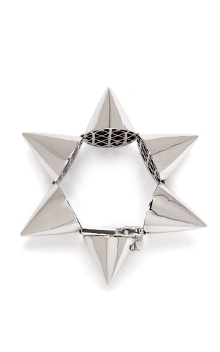 Extra Large Silver-Plated Cone Bracelet by Eddie Borgo Now Available on Moda Operandi