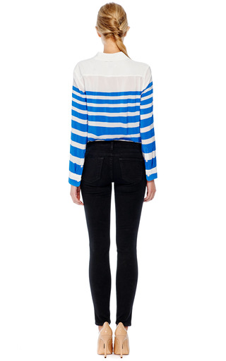 Reese Striped Silk Blouse by Equipment for Preorder on Moda Operandi
