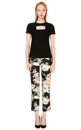 Crepe Floral-Print Cropped Pants by Honor Now Available on Moda Operandi