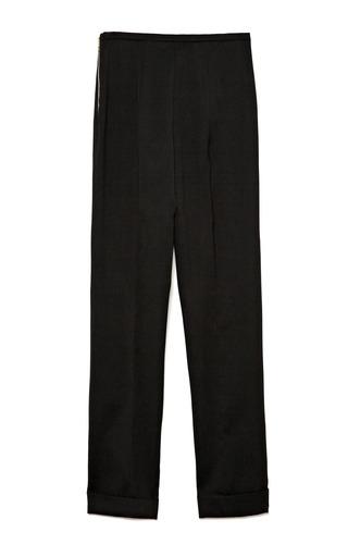 Rochas - Skinny Wool-Blend Cropped Cuffed Pants