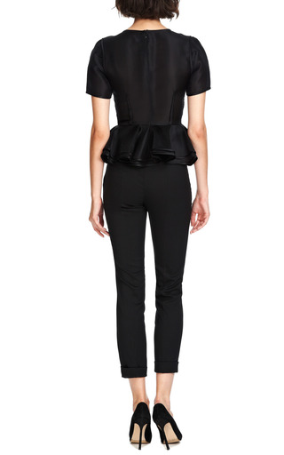 Skinny Wool Blend Cropped Cuffed Pants by ROCHAS Now Available on Moda Operandi
