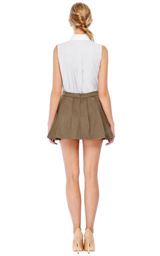 Contrast Collar Cotton-Poplin Top by Thakoon Now Available on Moda Operandi