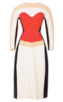 Wool-Crepe Sculpted Midi Dress by DELPOZO Now Available on Moda Operandi