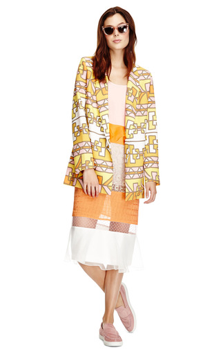 Long Printed Crepe Blazer by Karla Špetic Now Available on Moda Operandi