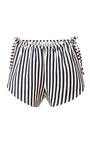 Striped Cotton Wrap Shorts by Karla Špetic Now Available on Moda Operandi
