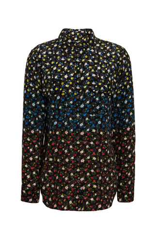 Signature Slim-Fitted Floral Print Silk Blouse by Equipment Now Available on Moda Operandi