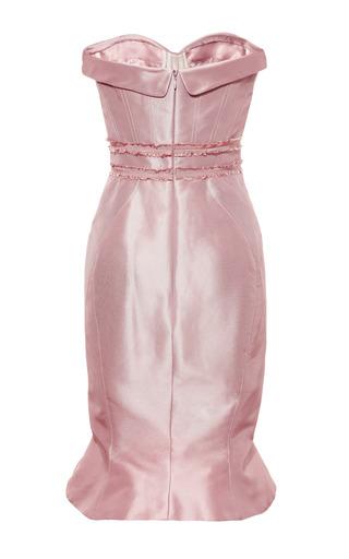 Zac Posen - Silk Strapless Geometric Dress