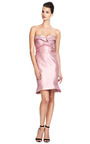 Silk Strapless Geometric Dress by ZAC POSEN Now Available on Moda Operandi
