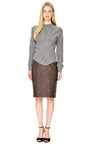 Mini Plaid Sequins Highwaisted Pencil Skirt by Marc Jacobs Now Available on Moda Operandi
