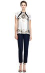 Printed Silk-Chiffon Top with Ruffle Detail by Prabal Gurung Now Available on Moda Operandi