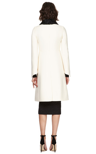 Wool-Blend Astrakhan Collared Coat by Valentino for Preorder on Moda Operandi