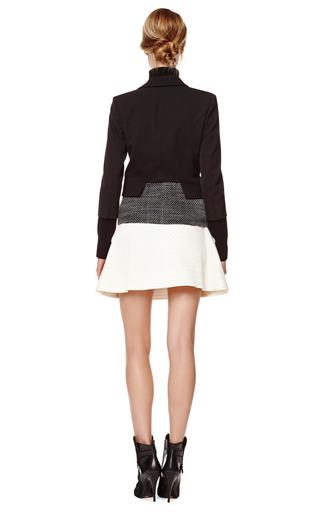 Cropped Gabardine Blazer with Tweed Hem by Derek Lam Now Available on Moda Operandi
