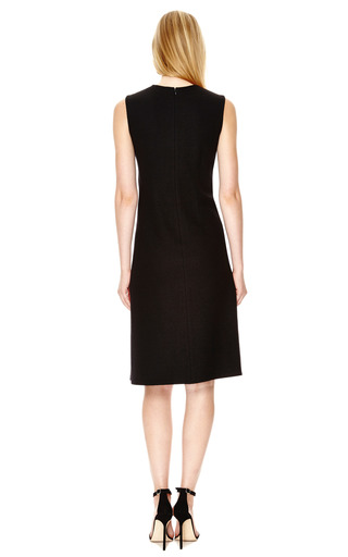 Wool Dress with Suede & Leather Insets by Derek Lam Now Available on Moda Operandi