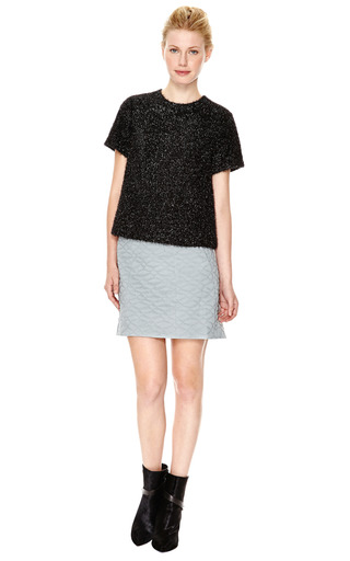 Fazzuro Quilted Mini Skirt with Saddle Hem by Theyskens' Theory Now Available on Moda Operandi