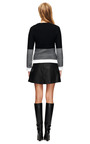 Theyskens' Theory - Swick Neasy Angled-Hem Leather Skirt