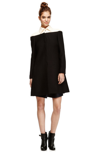 Wool & Silk Blend Color-Blocked Coat by Valentino Now Available on Moda Operandi