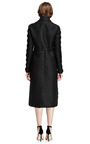 Scalloped-Trim Wool-Blend Belted Coat by Valentino for Preorder on Moda Operandi