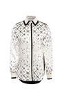 Scott Printed Silk Blouse With Contrast Trim by PREEN BY THORNTON BREGAZZI Now Available on Moda Operandi