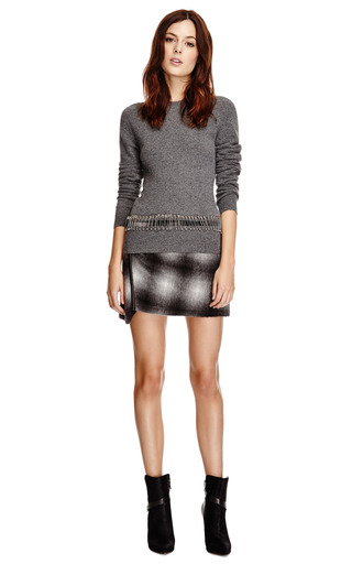 Ombre Plaid Wool-Blend Asymmetric Skirt by Derek Lam 10 Crosby Now Available on Moda Operandi