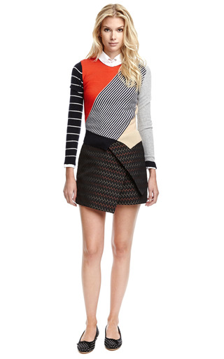Zigzag Brocade Wrap Skirt by Ellery Now Available on Moda Operandi