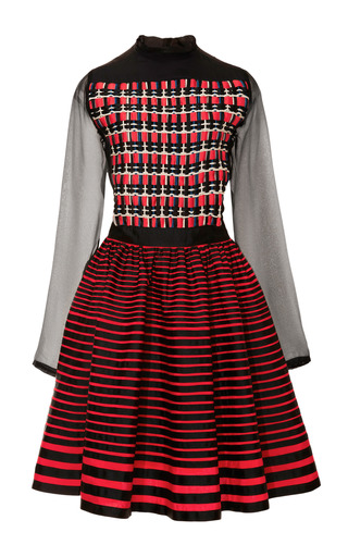 Woven Bodice Full-Skirted Dress by Kenzo Now Available on Moda Operandi