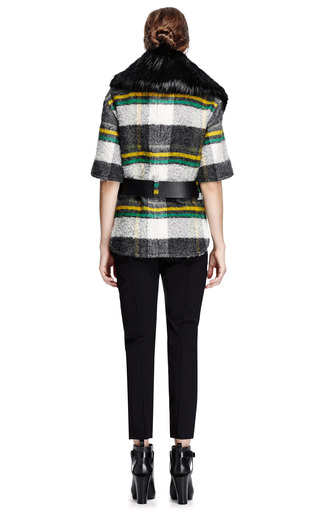 Marni - Fur-Collared Mohair-Blend Cropped Jacket