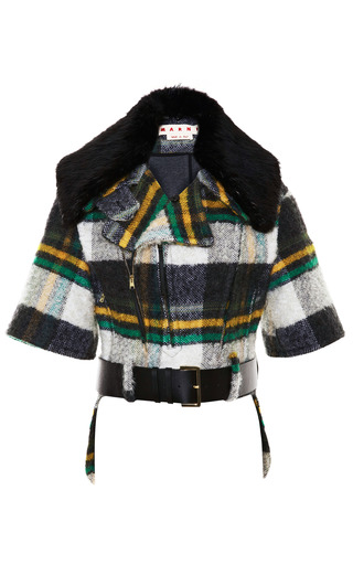 Fur-Collared Mohair-Blend Cropped Jacket by Marni Now Available on Moda Operandi
