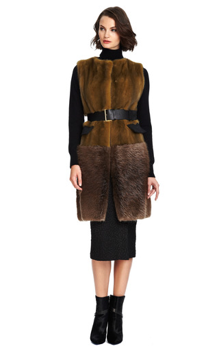 Long Mink Belted Vest by MARNI Now Available on Moda Operandi