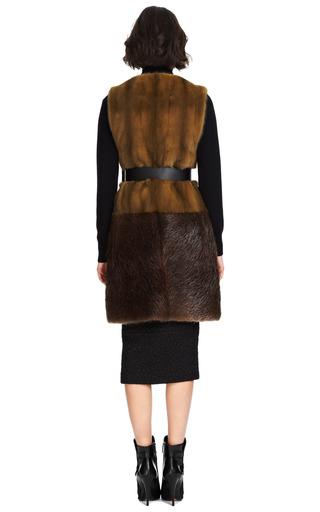 Long Mink Belted Vest by Marni Now Available on Moda Operandi