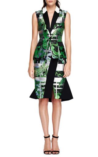 Ikebana-Printed Jacquard Vest by Peter Pilotto Now Available on Moda Operandi