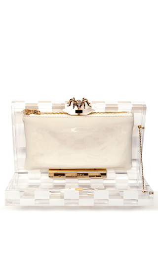 Pandora Squared Perspex Clutch by Charlotte Olympia Now Available on Moda Operandi