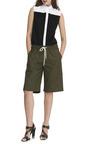 Drawstring Waist Cotton Shorts by MSGM Now Available on Moda Operandi