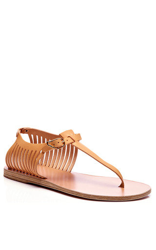 Ancient Greek Sandals - Leather Thong Cage Sandals