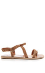 Ancient Greek Sandals - Distressed Leather Sandals