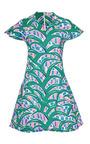 Kenzo Printed V-Neck Cotton Dress by Kenzo Now Available on Moda Operandi