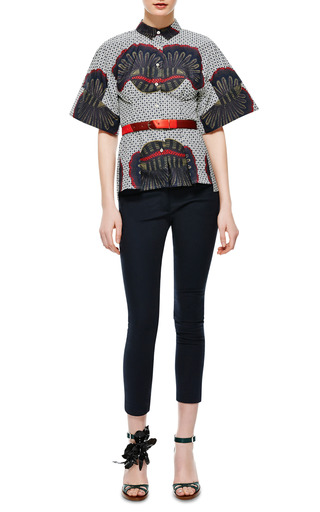 Grained Leather Patchwork Belt by Maison Boinet Now Available on Moda Operandi