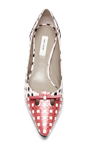 Printed Snakeskin Pointed Toe Flats by MARC JACOBS Now Available on Moda Operandi
