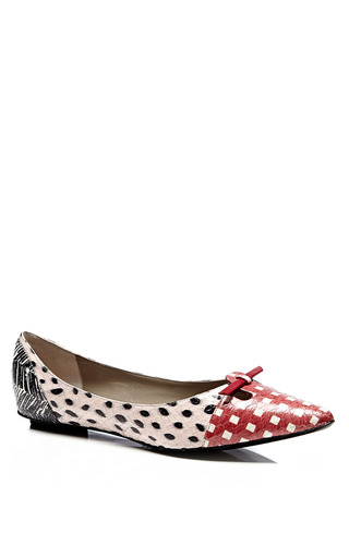 Printed Snakeskin Pointed-Toe Flats by Marc Jacobs for Preorder on Moda Operandi
