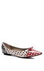 Marc Jacobs - Printed Snakeskin Pointed-Toe Flats
