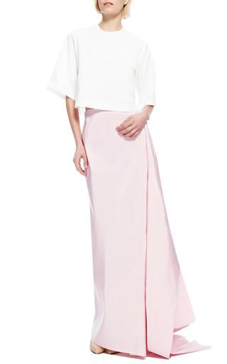 Rosie Assoulin - Silk-Faille Draped-Back Maxi Skirt