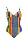 Bossa Nova Color-Blocked Swimsuit by Agua de Coco Now Available on Moda Operandi