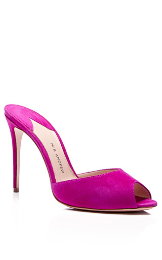 Paul Andrew - M'O Exclusive: Artistata Suede Mule Stiletto Heels